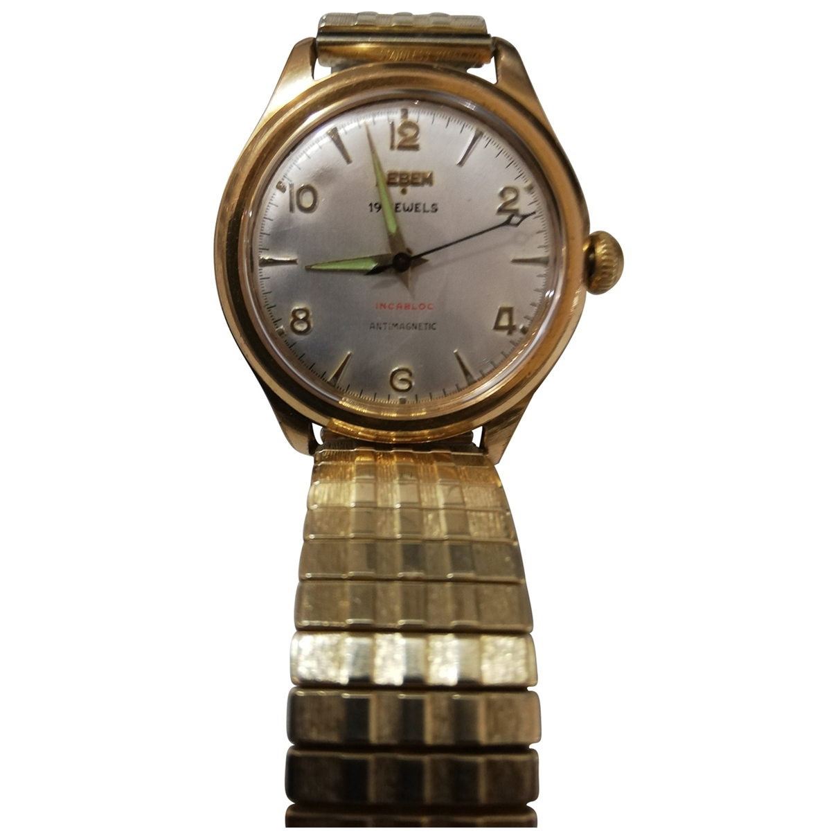 Non Signé / Unsigned \N Gold Gold plated watch for Men \N