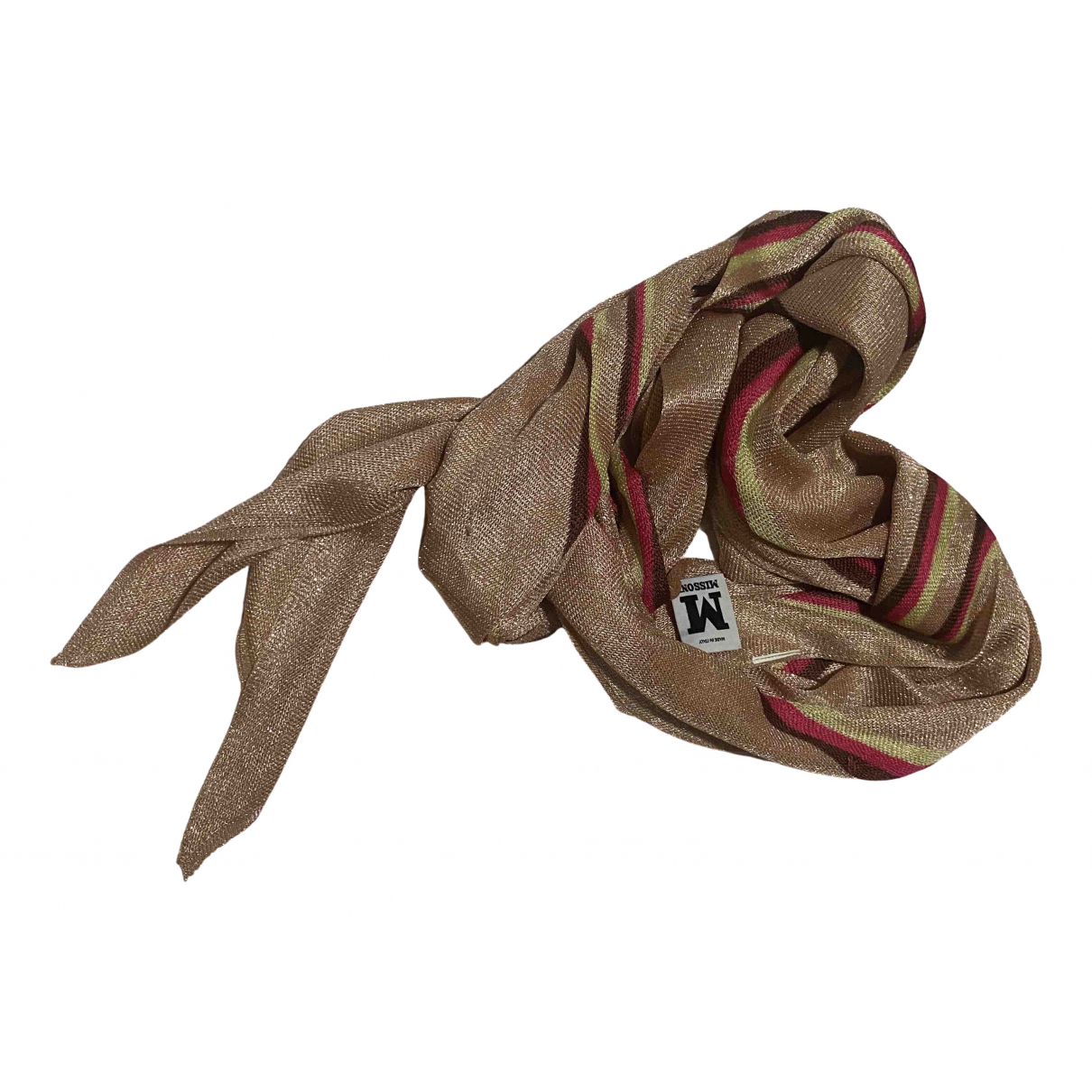 M Missoni \N Gold Silk Silk handkerchief for Women \N
