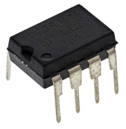 Texas Instruments UC3845N, PWM Current Mode Controller, 1 A, 500 kHz, 8-Pin PDIP (5)