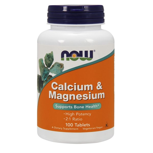 Calcium & Magnesium 100 Tabs by Now Foods