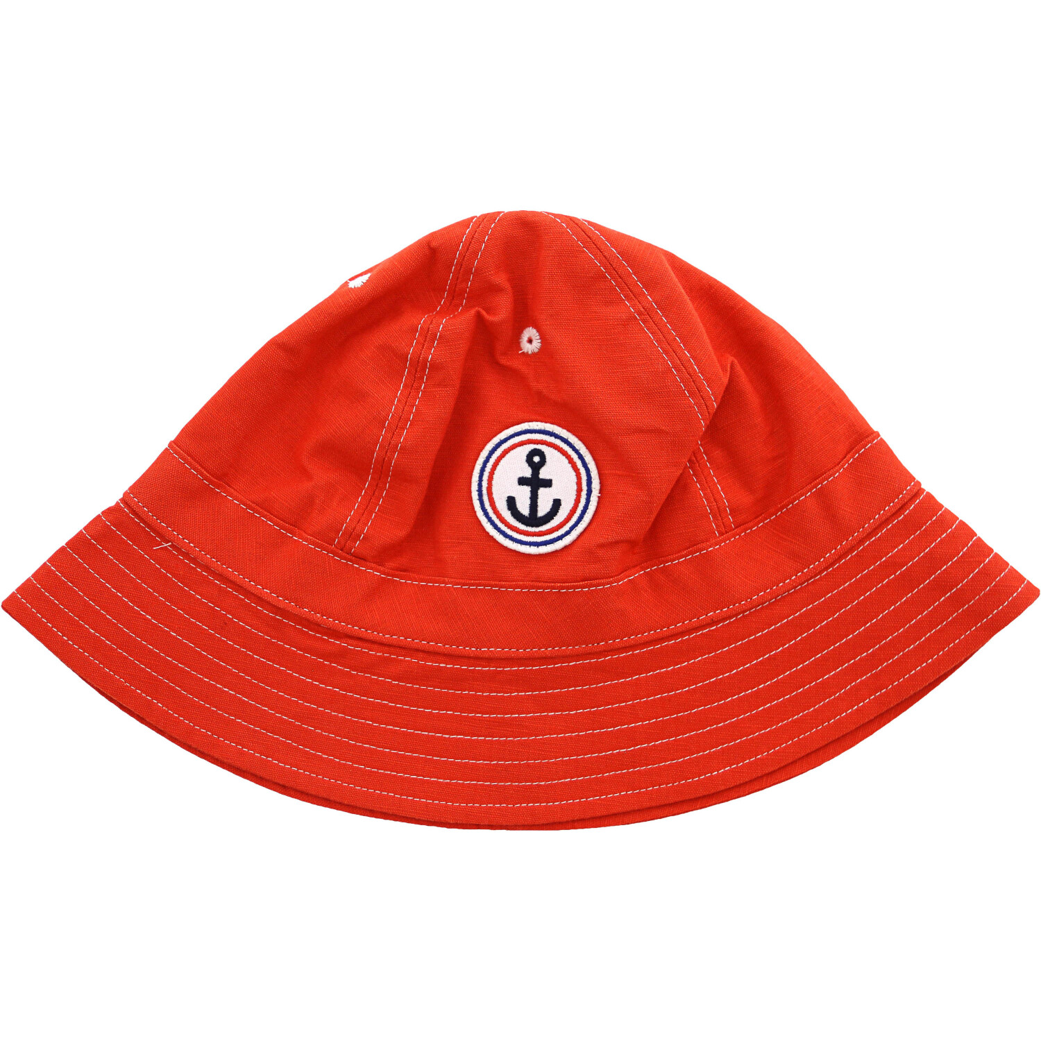Janie And Jack Boy's Tomato Anchor Bucket Hat Hats & Cap - 6-8