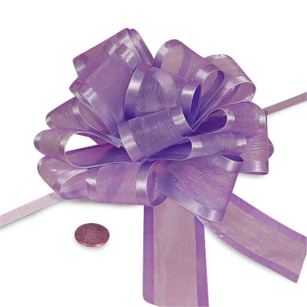 Lavender Sheer Pull Bow with Satin Edges 4