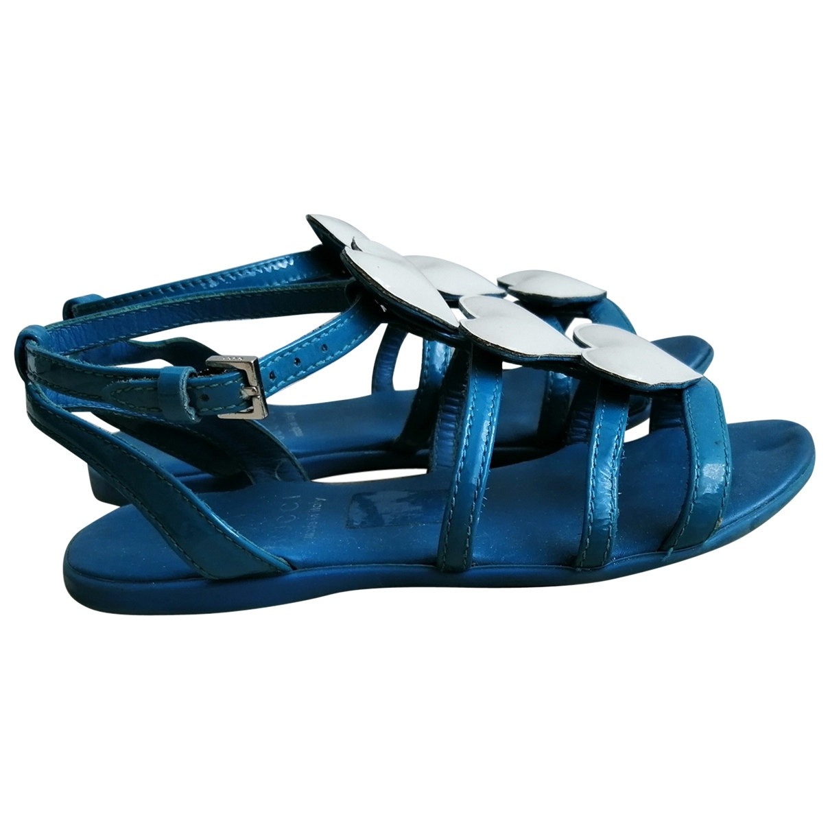 Gucci \N Blue Leather Sandals for Kids 25 EU