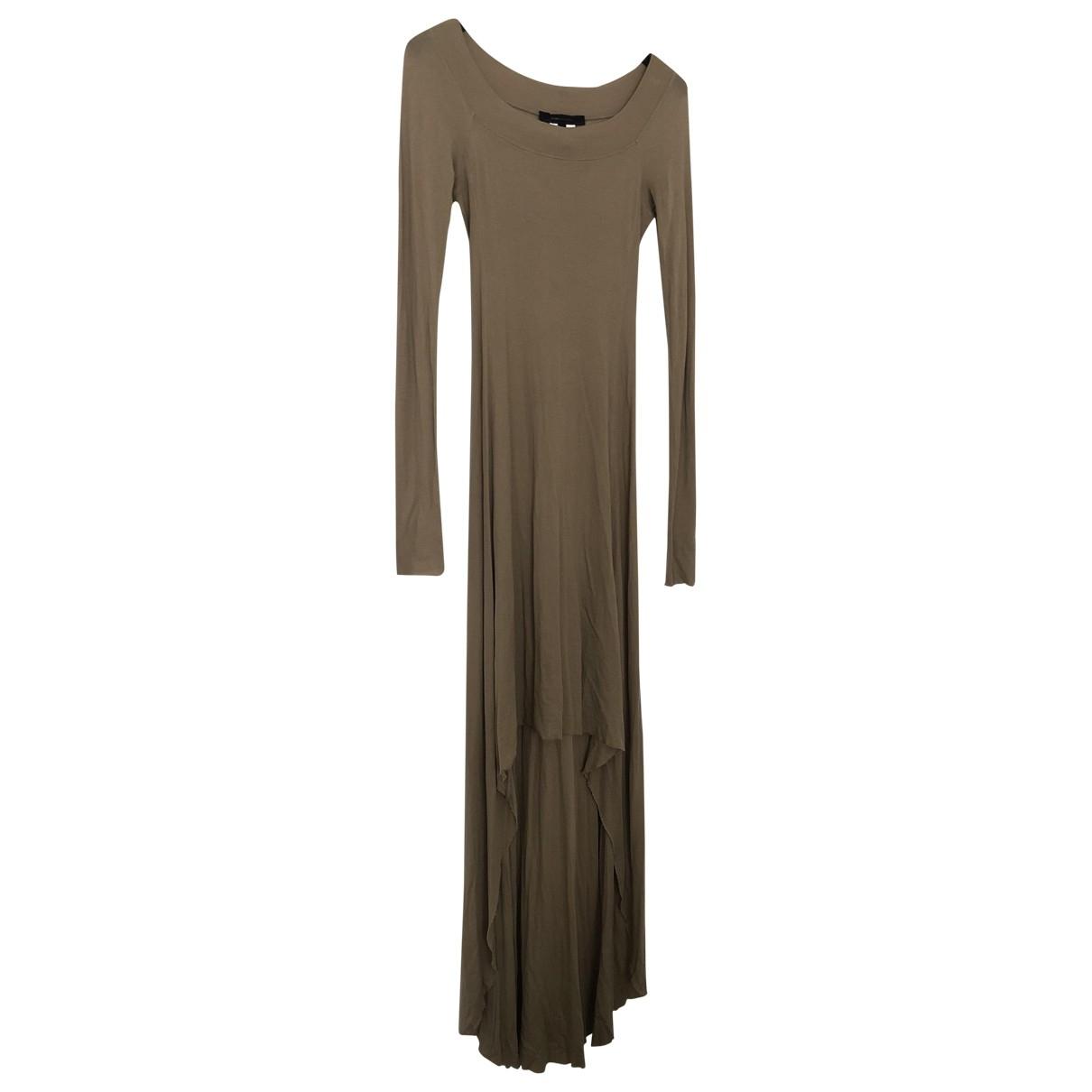 Bcbg Max Azria \N Beige Cotton - elasthane dress for Women XS International