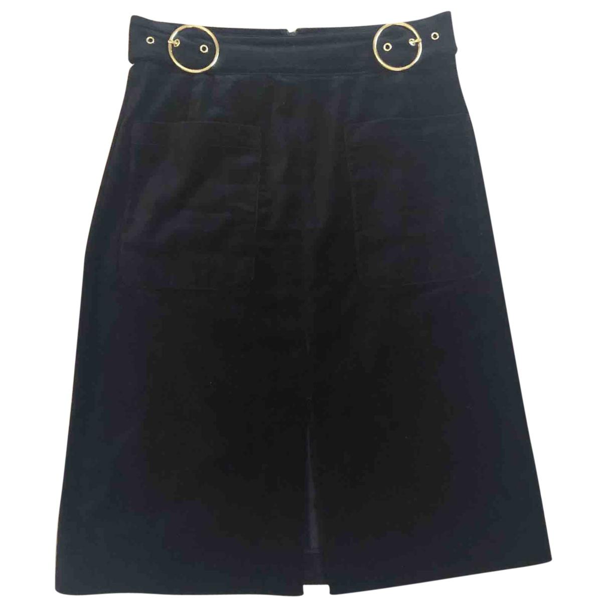 Whistles \N Black Cotton skirt for Women 10 UK