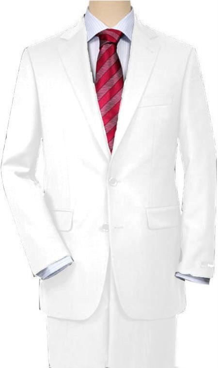 White Suit Separates Total Comfort Any Size Jacket and Any Size Pants