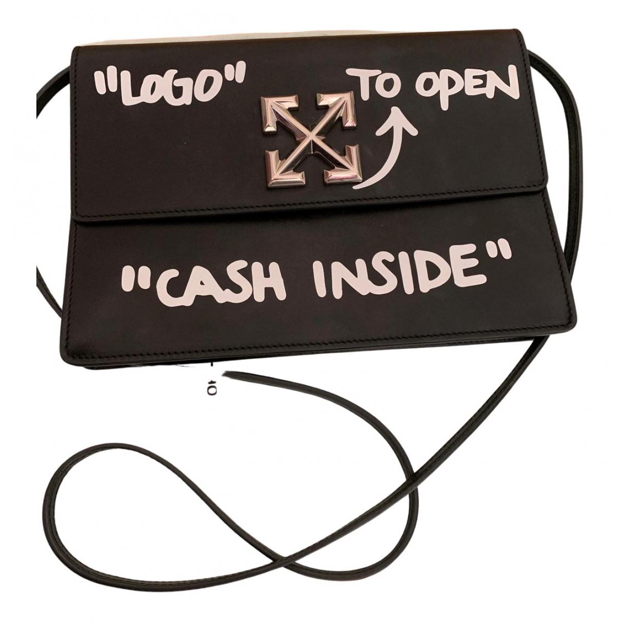 Off-white N Black Leather handbag for Women N
