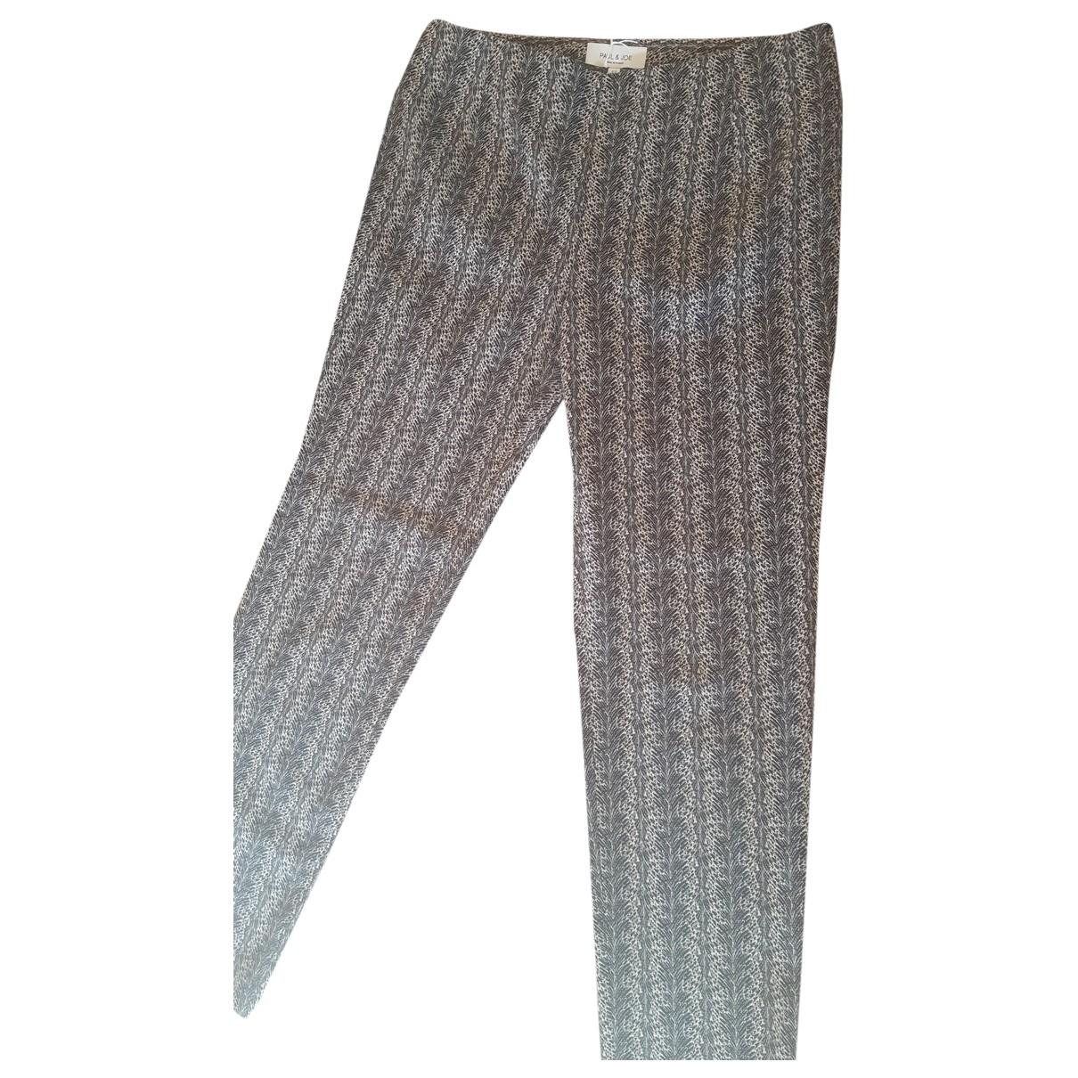 Paul & Joe \N Grey Cotton Trousers for Women 38 FR