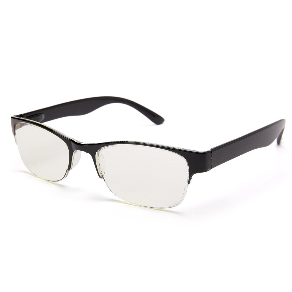 Mens Womens Half-rimmed Blu-ray-proof Glasses Protect Eyes Durable Reading Glasses