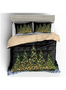Christmas Tree with Bows Printed 3D 3-Piece Bedding Sets/Duvet Covers