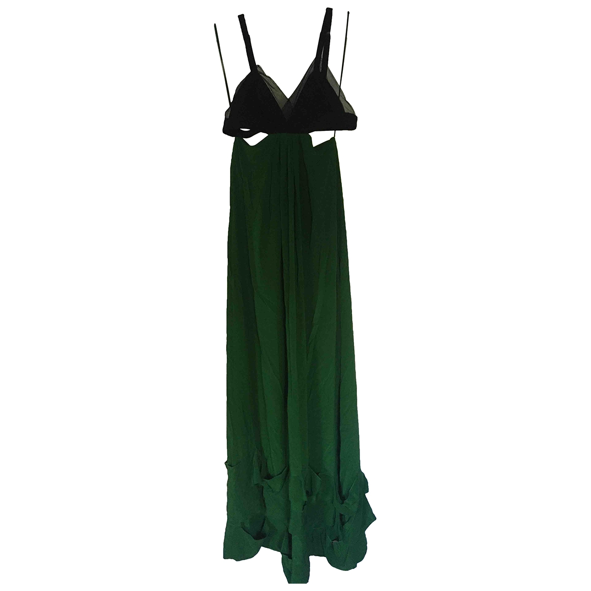 Sonia Rykiel \N Green Silk dress for Women 38 FR
