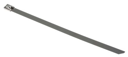 RS PRO Metallic 316 Stainless Steel Roller Ball Cable Tie, 200mm x 7.9 mm
