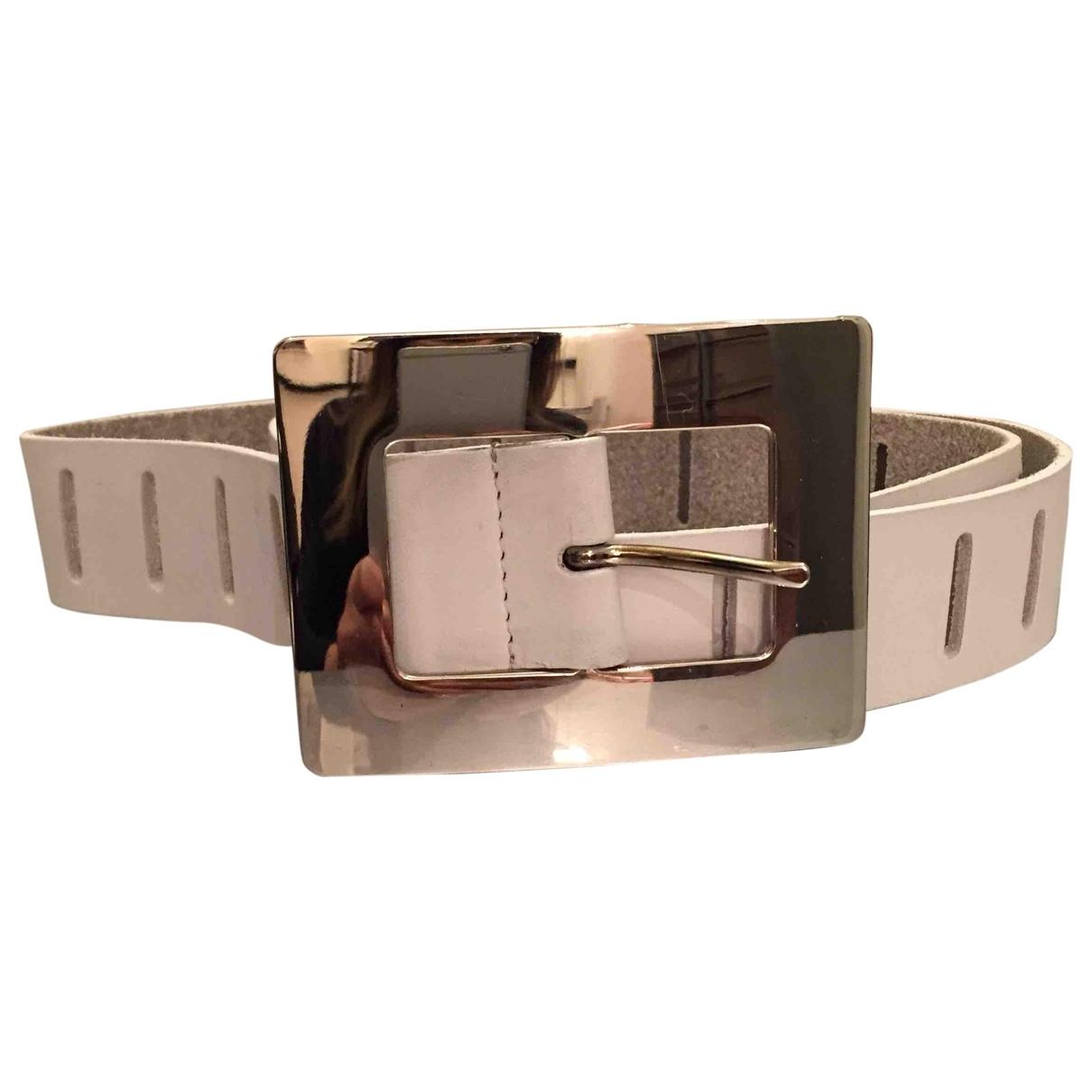 Dolce & Gabbana \N White Leather belt for Women 90 cm