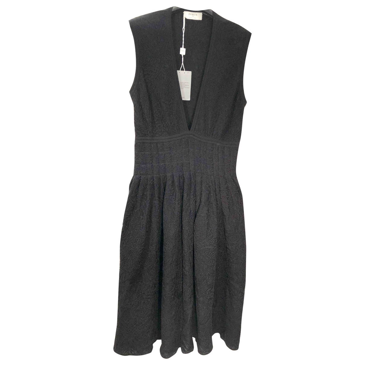 Ports 1961 \N Black Cotton dress for Women L International