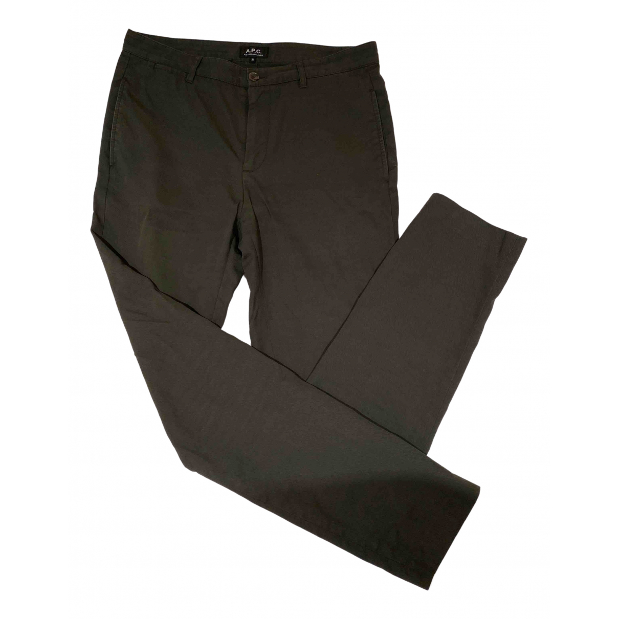 Apc \N Green Cotton Trousers for Men 30 UK - US