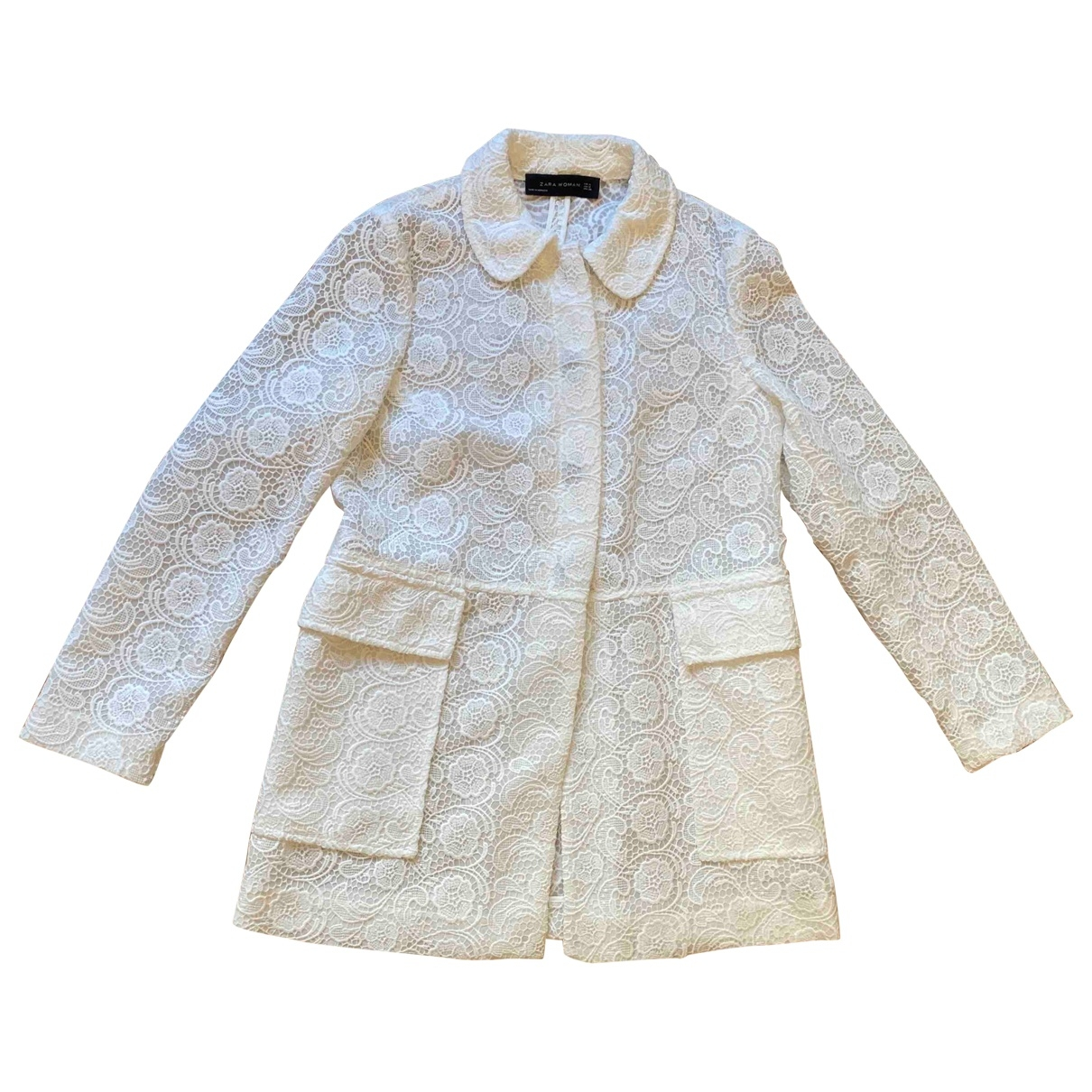 Zara \N White jacket for Women S International