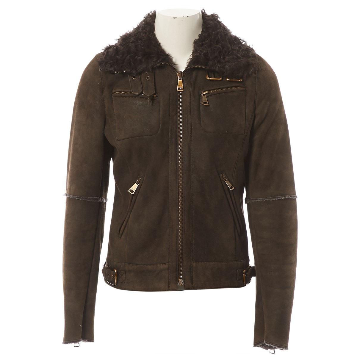 Dolce & Gabbana \N Brown Fur jacket for Women 40 IT
