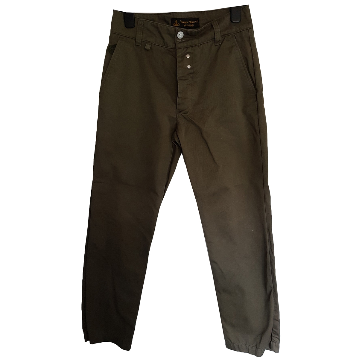 Vivienne Westwood Anglomania \N Khaki Cotton Trousers for Men S International