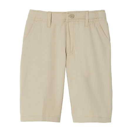 French Toast Little & Big Boys Stretch Moisture Wicking Chino Short, 6 , Beige