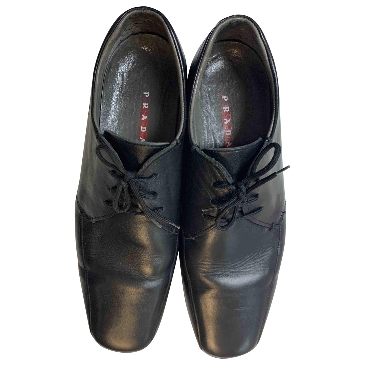 Prada \N Black Leather Lace ups for Men 42.5 EU