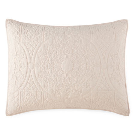 JCPenney Home Emma Pillow Sham, One Size , Pink