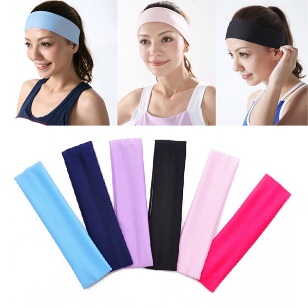 Elastic Ladys Plain Headband Towel Yoga Sport Wash Face Bath Snood 6 Colors