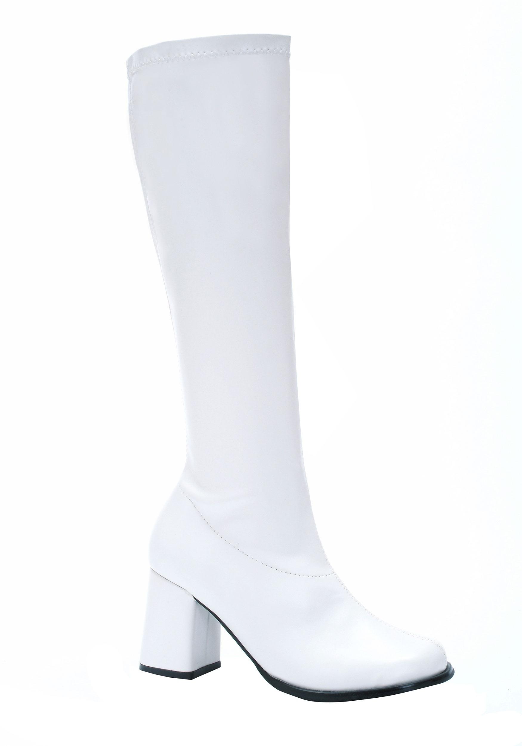 White Gogo Women's Costume Boots