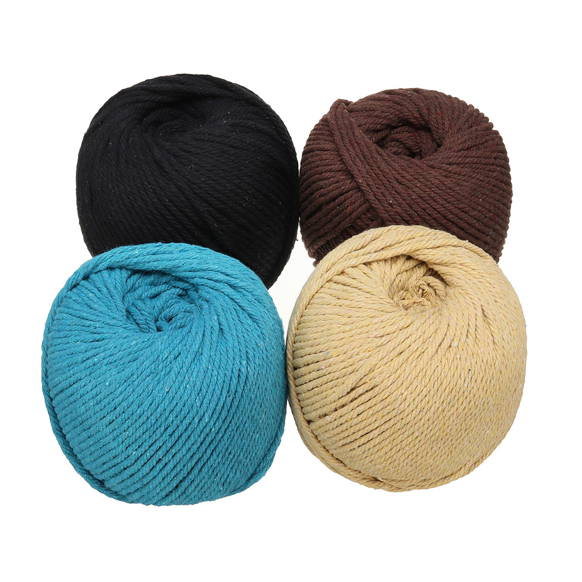 4mm 110M Macrame Rope Colorful Cotton Twisted Cord String DIY Hand Craft