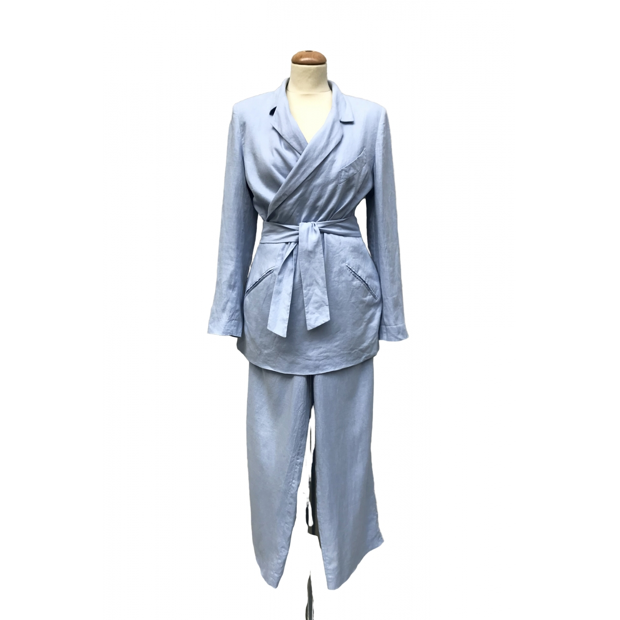Kenzo \N Blue Linen jacket for Women 40 FR