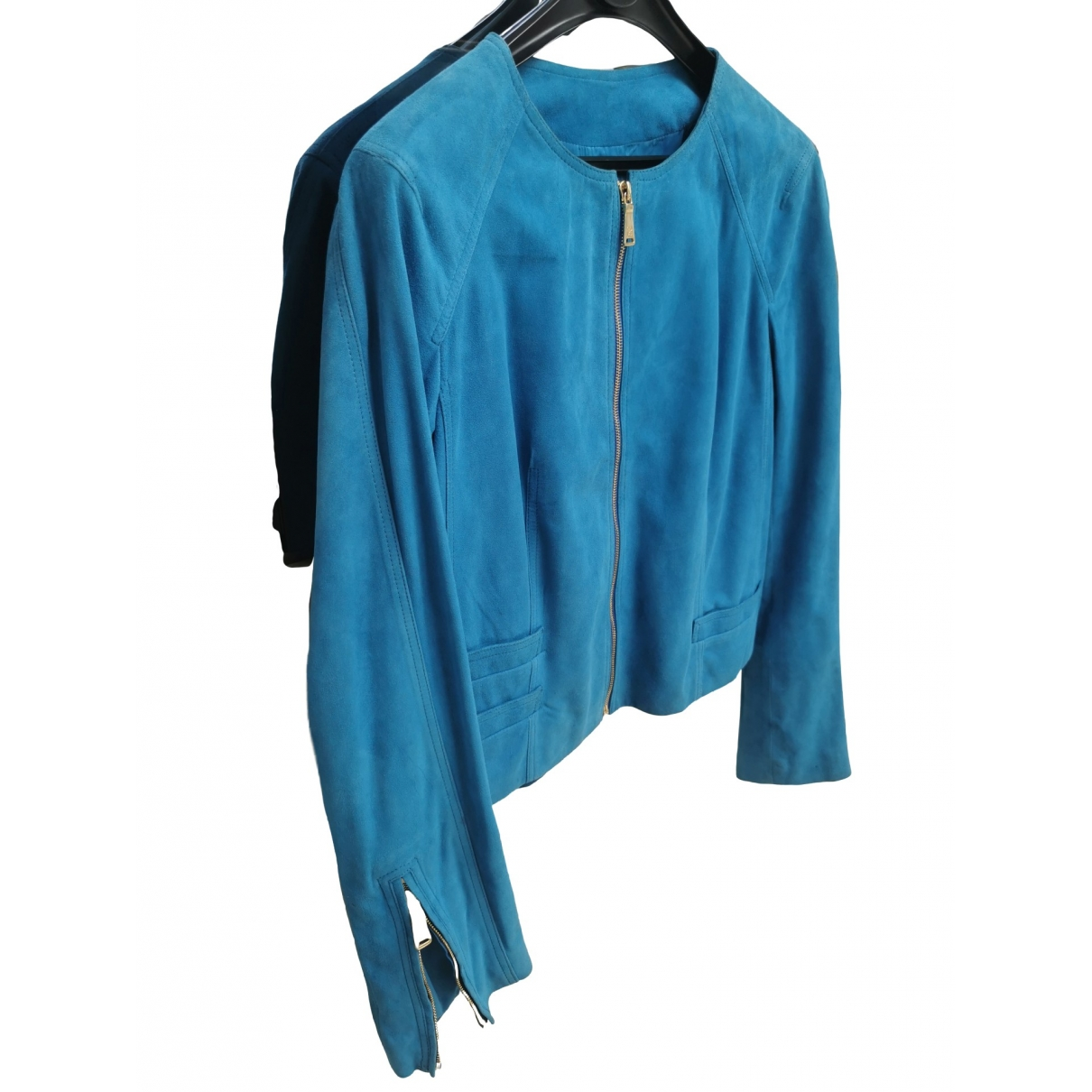 Georges Rech \N Turquoise Leather Leather jacket for Women 42 FR