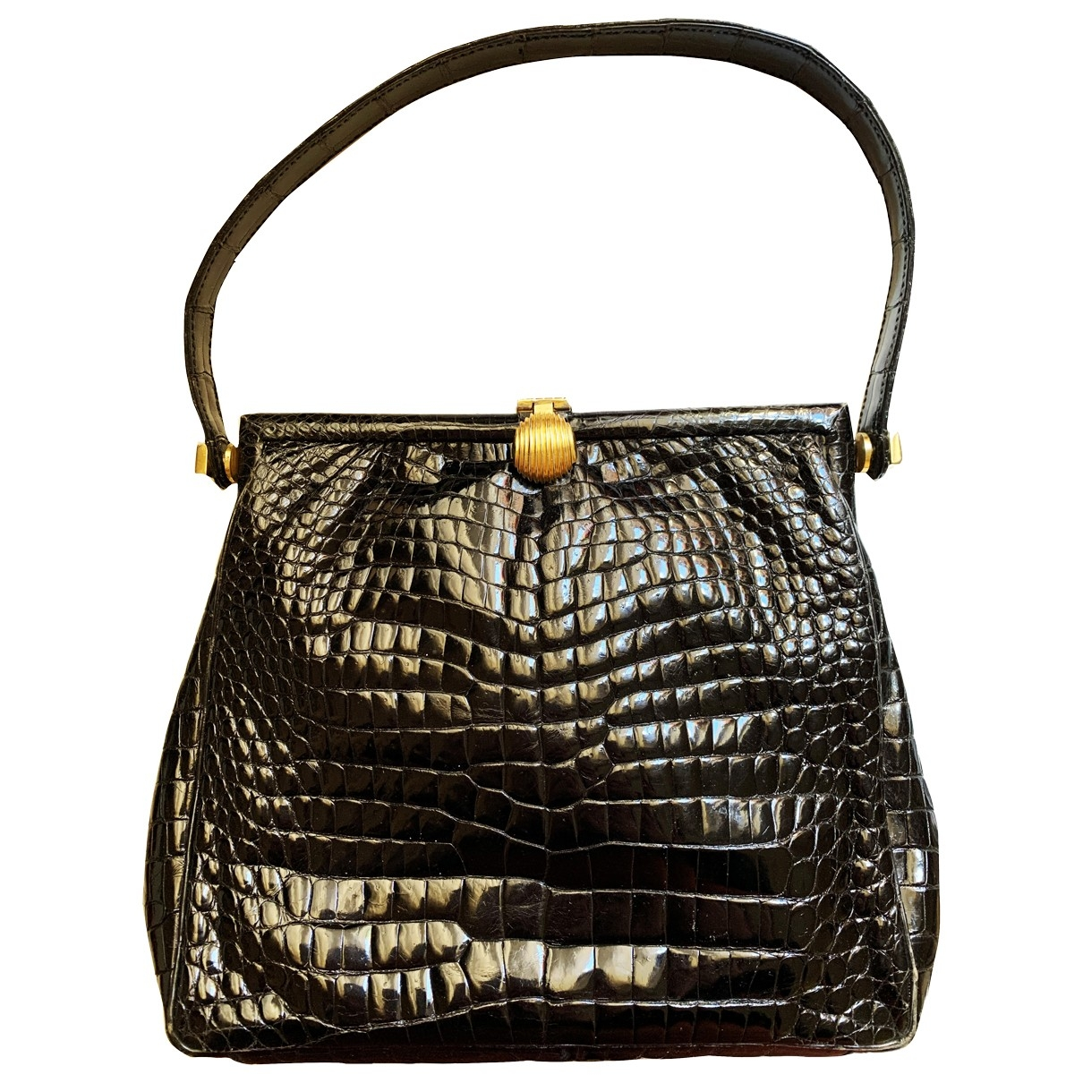 Gucci \N Black Crocodile handbag for Women \N