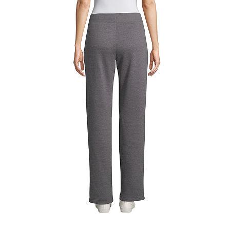 St. John's Bay Womens Mid Rise Straight Sweatpant, Petite Large , Gray