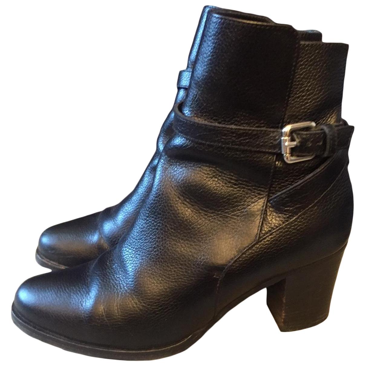 Lk Bennett \N Black Leather Ankle boots for Women 39 EU