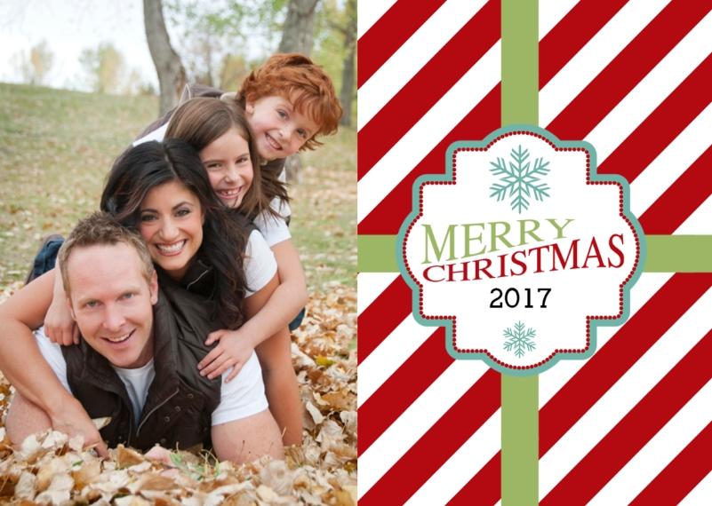 Holiday Scalloped Ornament (Metal), Gift -Christmas Gift