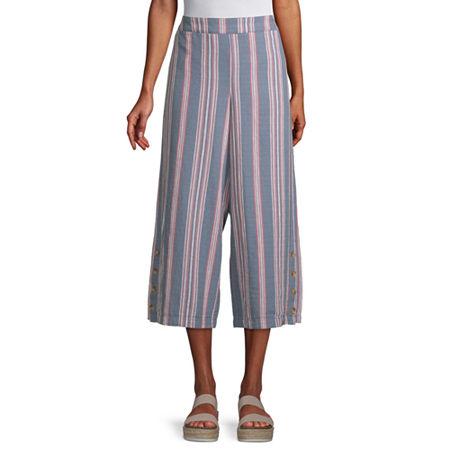 a.n.a High Rise Cropped Pants, X-large , Blue