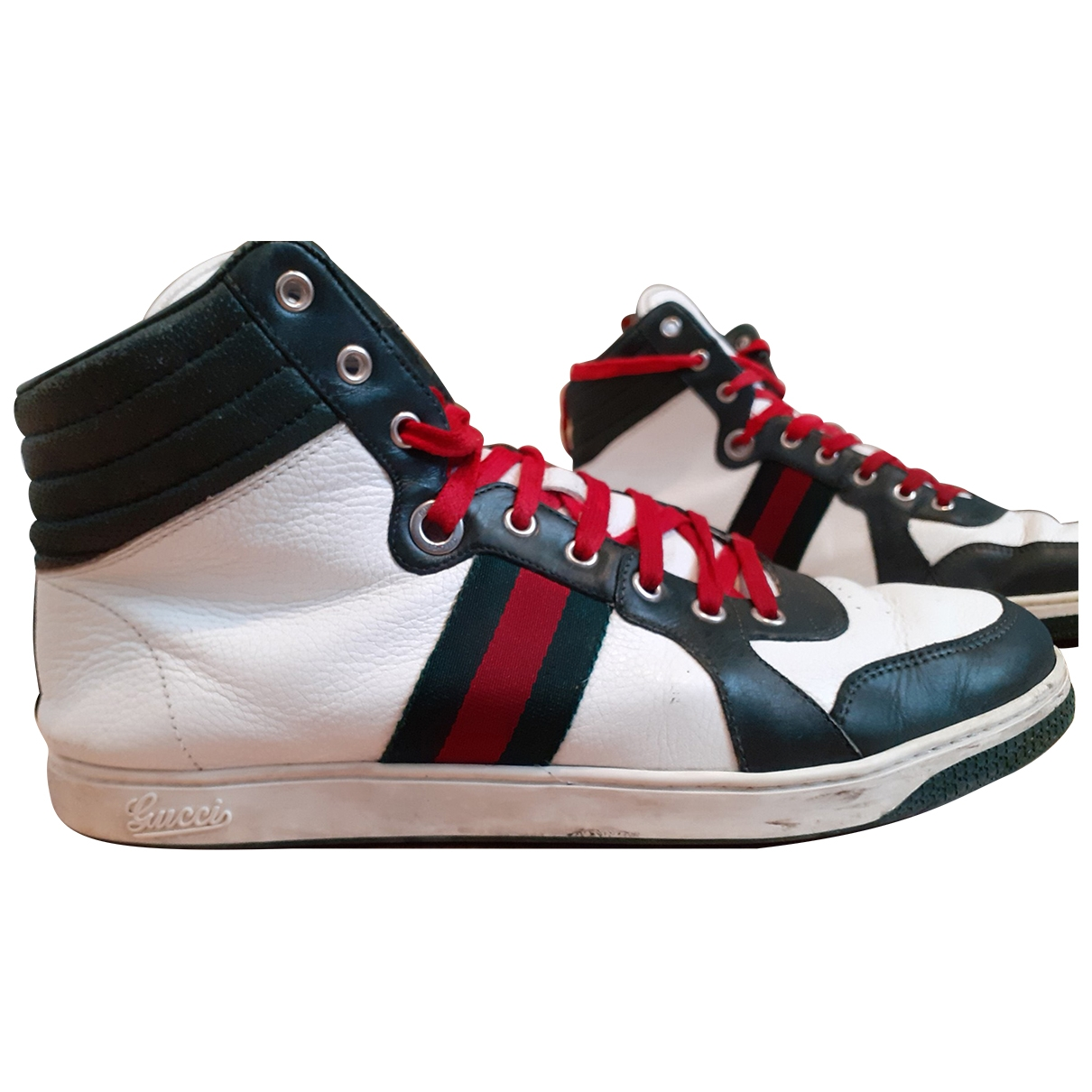 Gucci \N White Leather Trainers for Men 44.5 EU