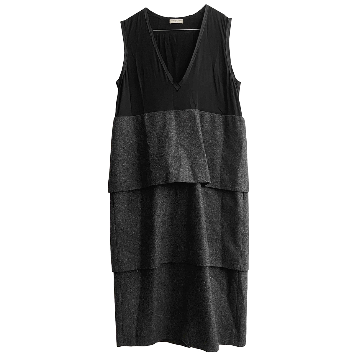 Dries Van Noten \N Grey Wool dress for Women 36 FR