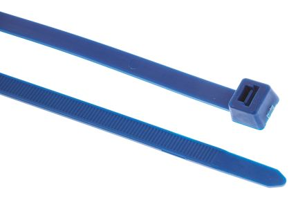HellermannTyton , T120R Series Blue ETFE High Chemical Resistance Cable Tie, 387mm x 7.4 mm