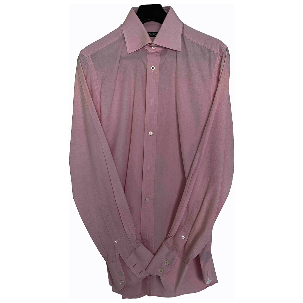 Tom Ford \N Pink Cotton Shirts for Men 41 EU (tour de cou / collar)
