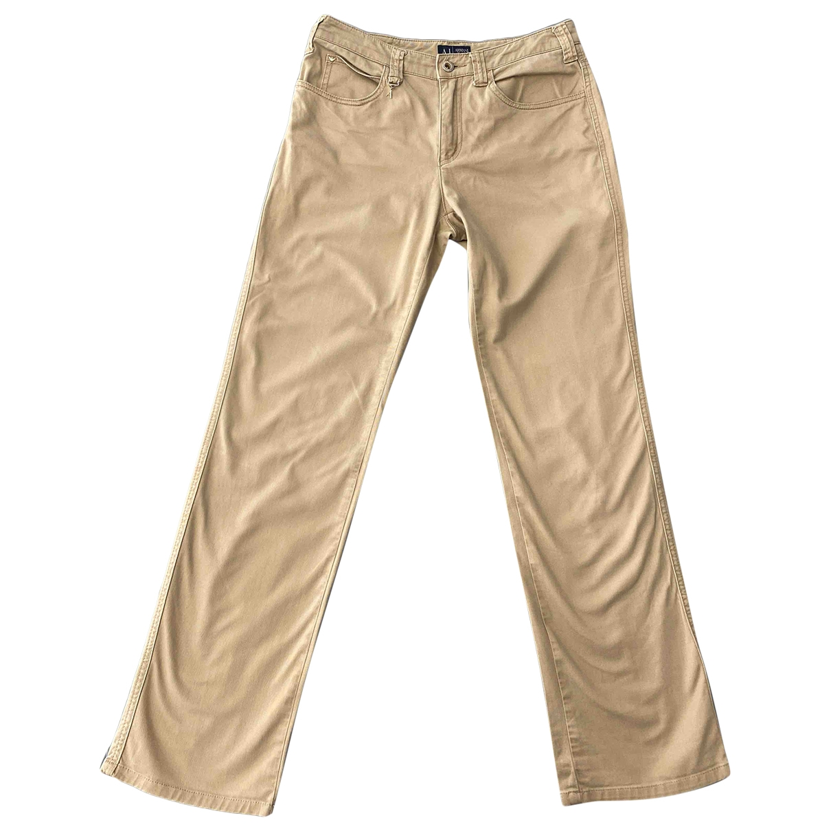 Armani Jeans \N Beige Cotton Jeans for Women 29 US