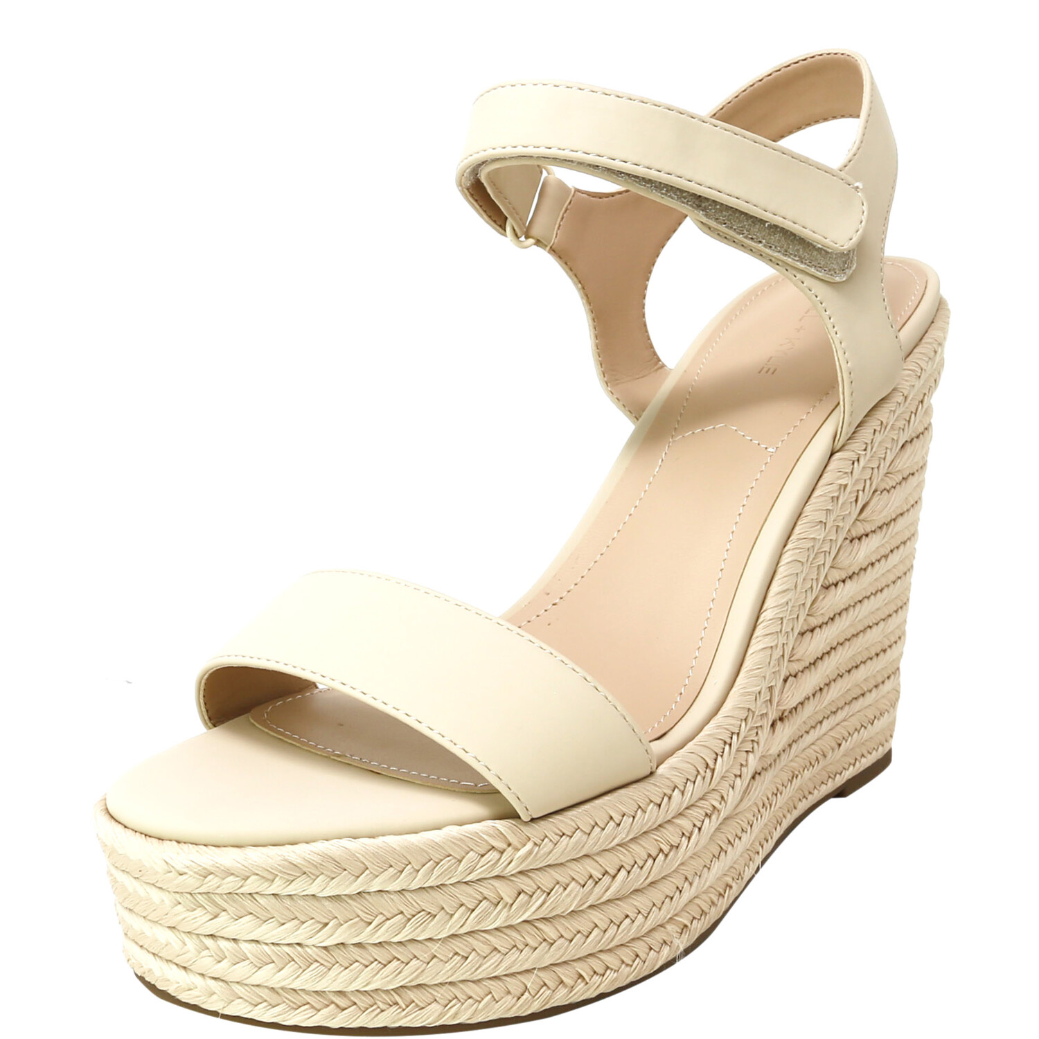 Kendall + Kylie Women's Grand Natural Light Ankle-High Wedged Sandal - 10M