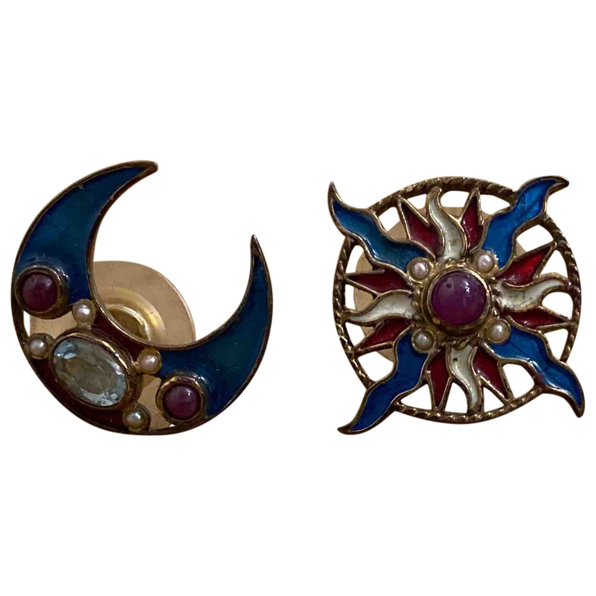 Percossi Papi \N Multicolour Gold plated Earrings for Women \N