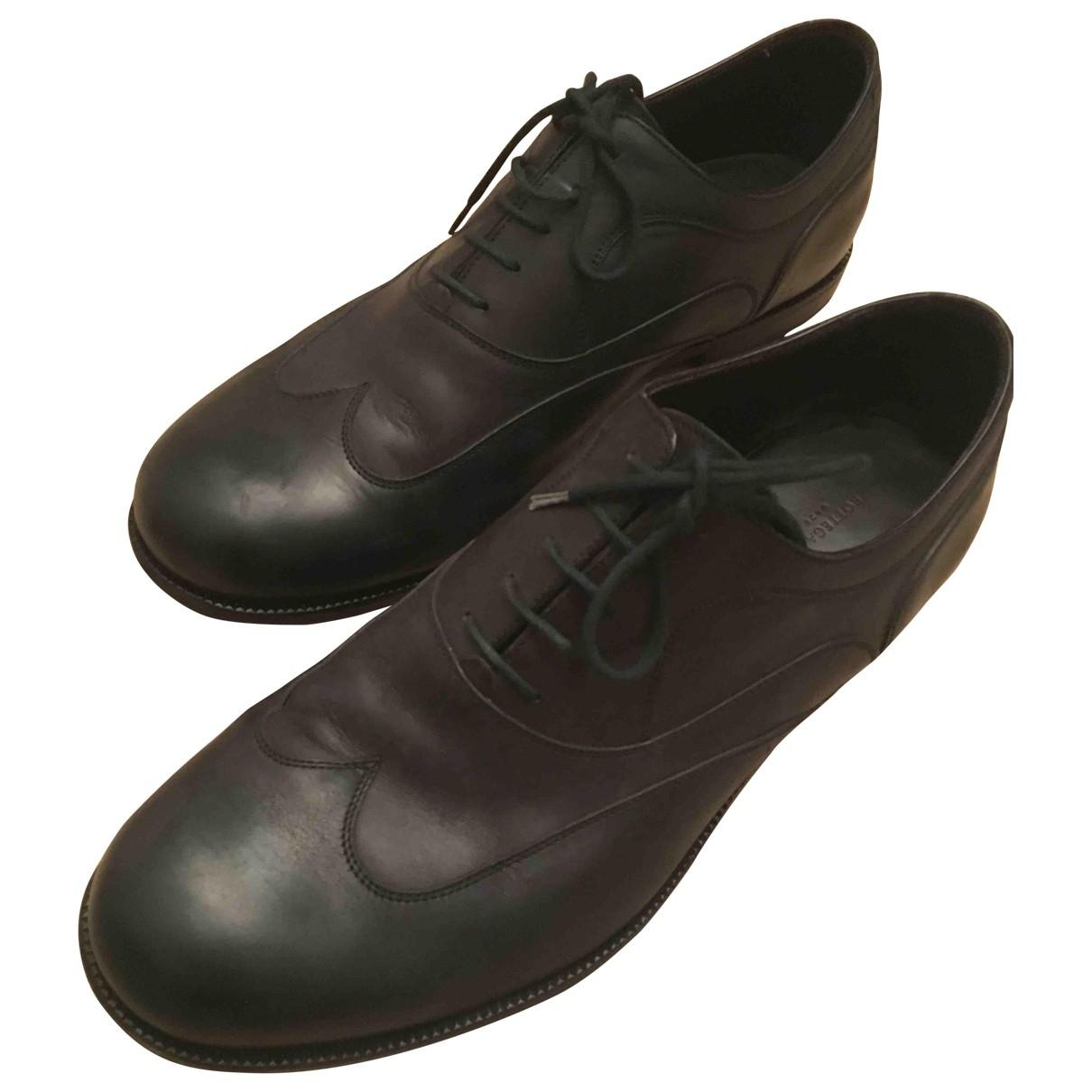Bottega Veneta \N Black Leather Lace ups for Men 44.5 EU