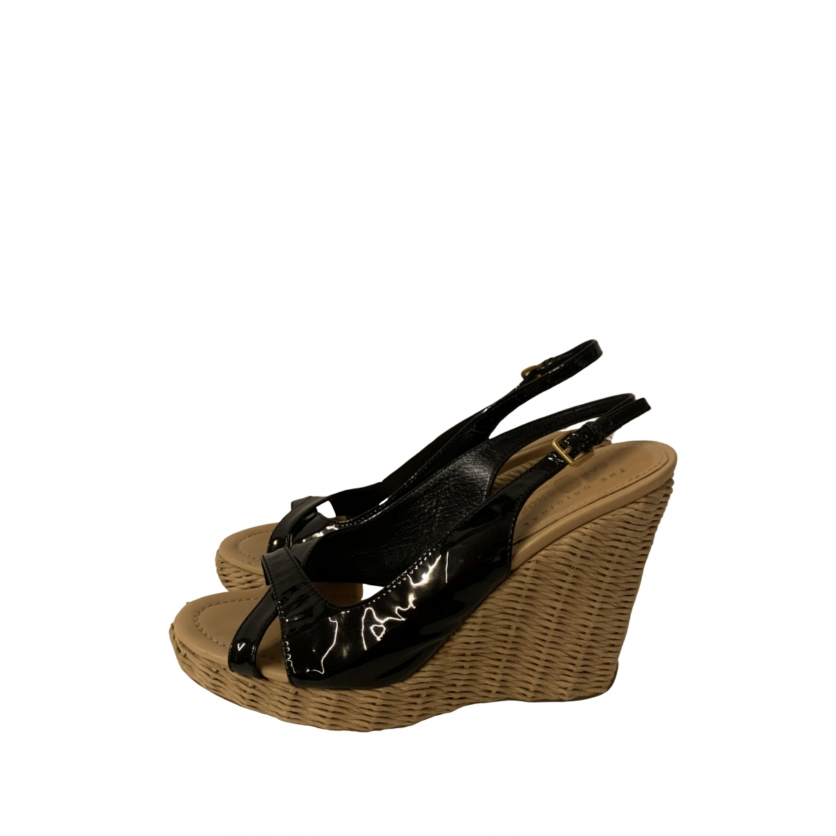 Carshoe \N Black Patent leather Sandals for Women 39.5 EU
