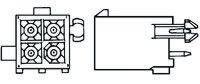 TE Connectivity , Mini-Universal MATE-N-LOK, 3 Way, 1 Row, Straight PCB Header (5)