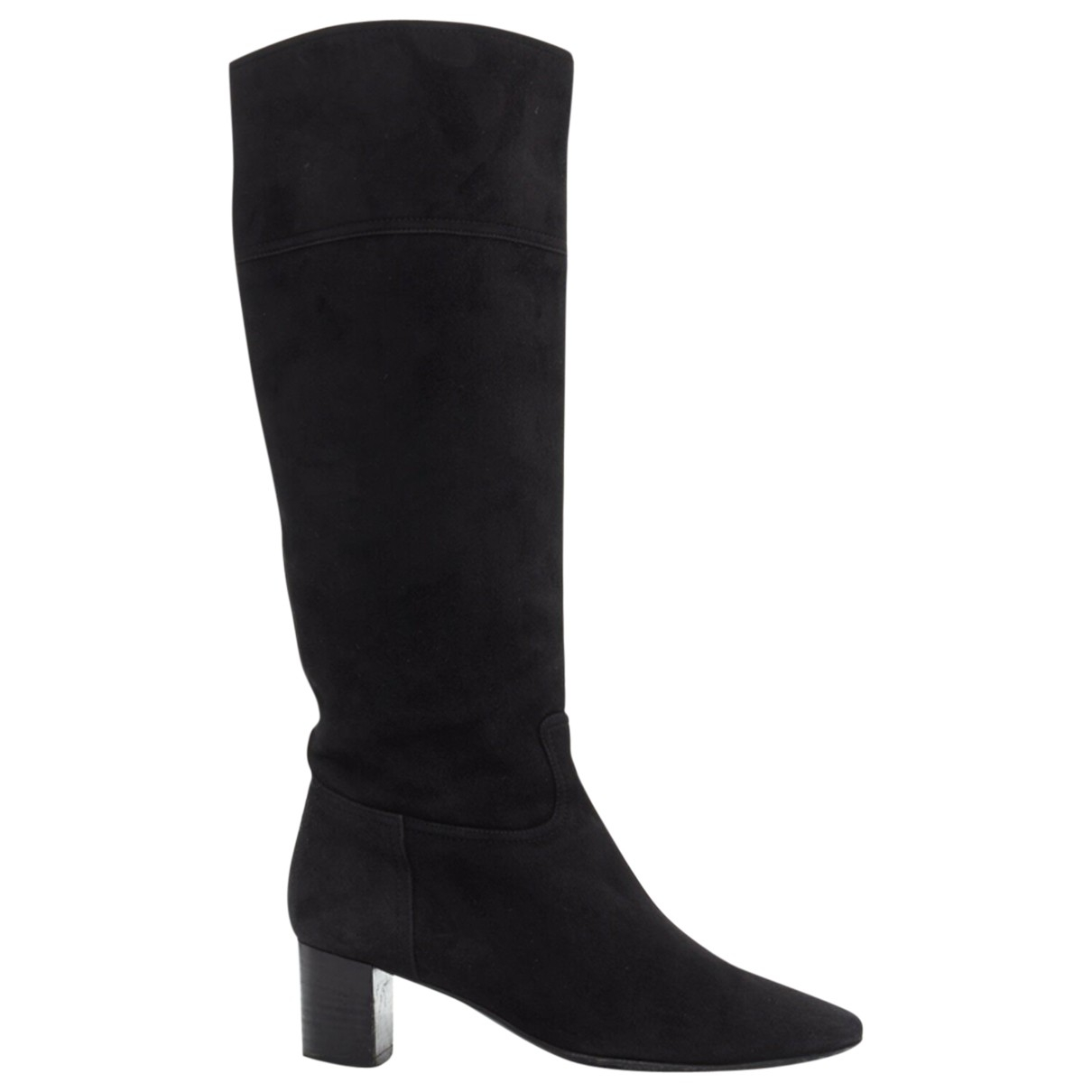 Hermès \N Black Suede Boots for Women 37.5 EU