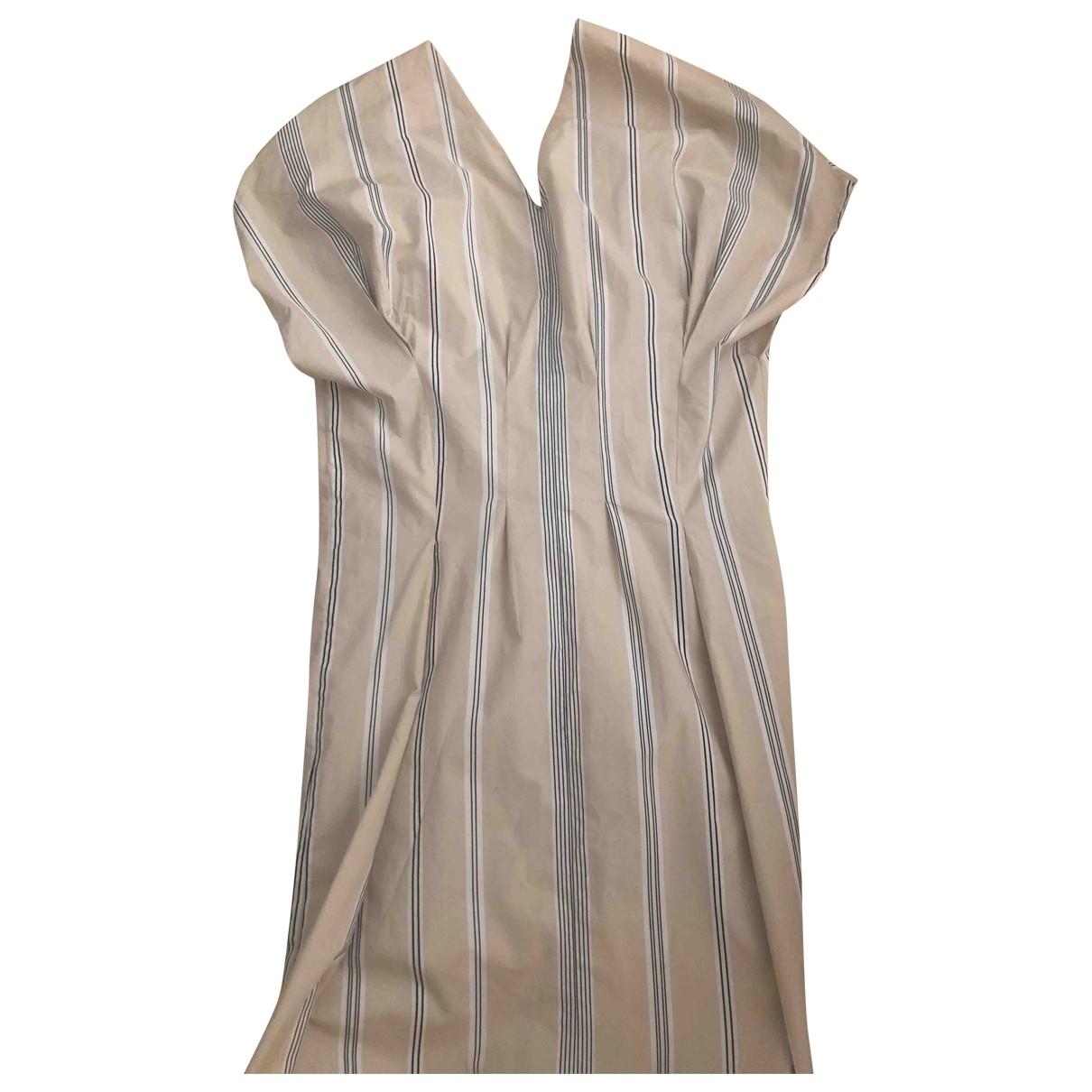 Marni \N Beige Cotton dress for Women 40 IT