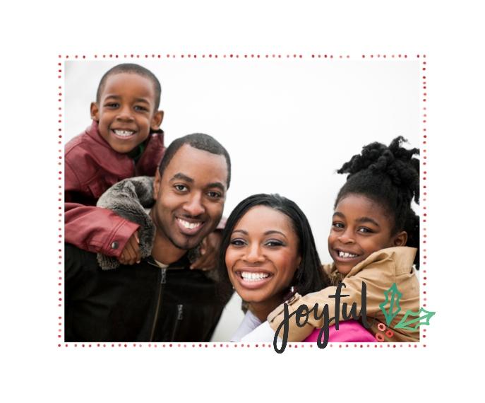Holiday Framed Canvas Print, Black, 16x20, Home Décor -Joyful Holly
