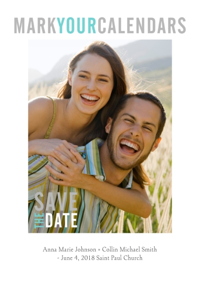 Save the Date Flat Matte Photo Paper Cards with Envelopes, 5x7, Card & Stationery -Graphic Announcement