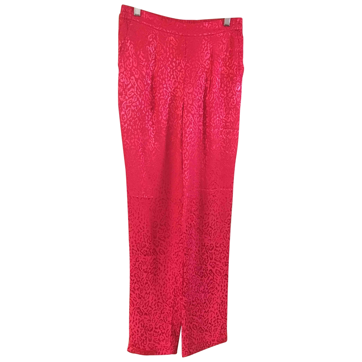 Non Signé / Unsigned \N Pink Trousers for Women S International